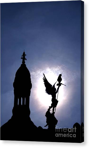 Sacre Coeur Canvas Print - Saint Michael The Archangel  by Olivier Le Queinec