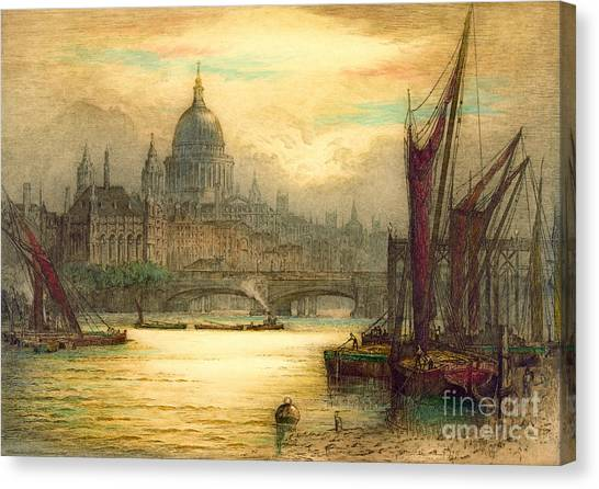 Saint Paul's Cathedral 1902 Canvas Print by Padre Art
