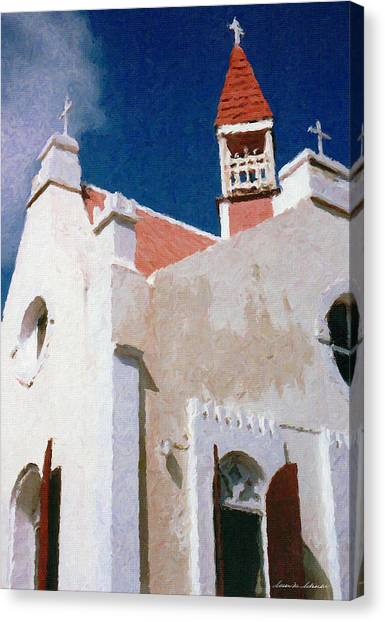 Saint Pauls Conversion Church Saba The Netherlands Antilles Canvas Print