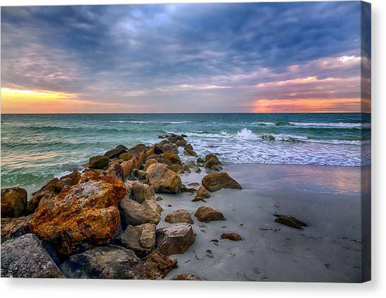 Saint Pete Beach Stormy Sunset Canvas Print