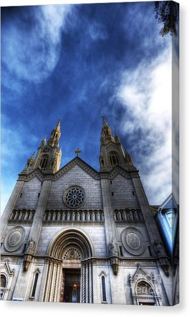 Joe Dimaggio Canvas Print - Saint Peter And Saint Paul Church by David Bearden