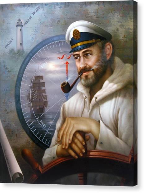 Saint Simons Island Sea Captain 1 Canvas Print