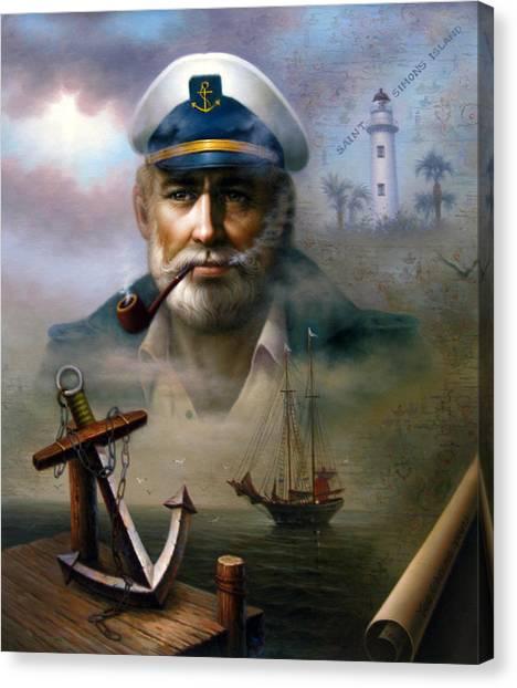 Saint Simons Island Sea Captain 2 Canvas Print