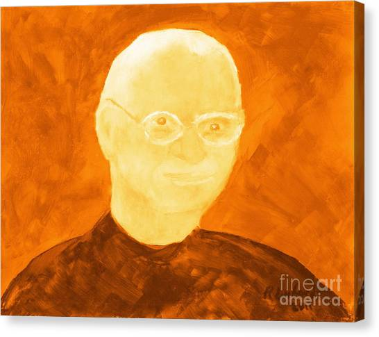 Saint Steven Paul Jobs 3 Canvas Print by Ricardo Richard W Linford