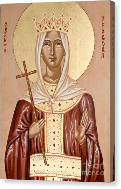 Saint Theodora Of Arta Canvas Print