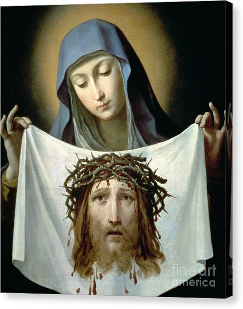 The Crown Canvas Print - Saint Veronica by Guido Reni