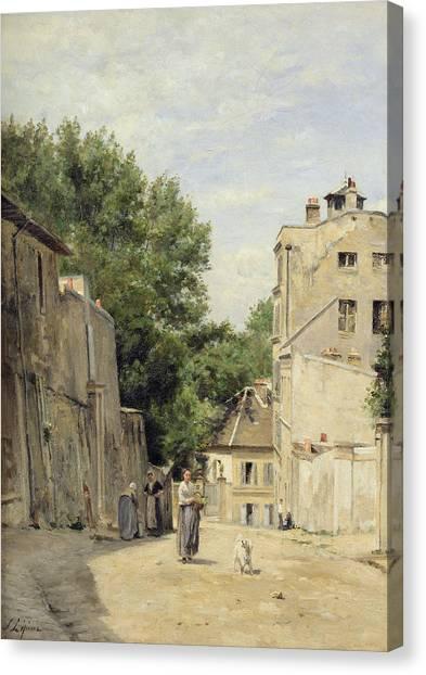 Parisian Canvas Print - Saint-vincent Street, Montmartre Oil On Canvas by Stanislas Victor Edouard Lepine
