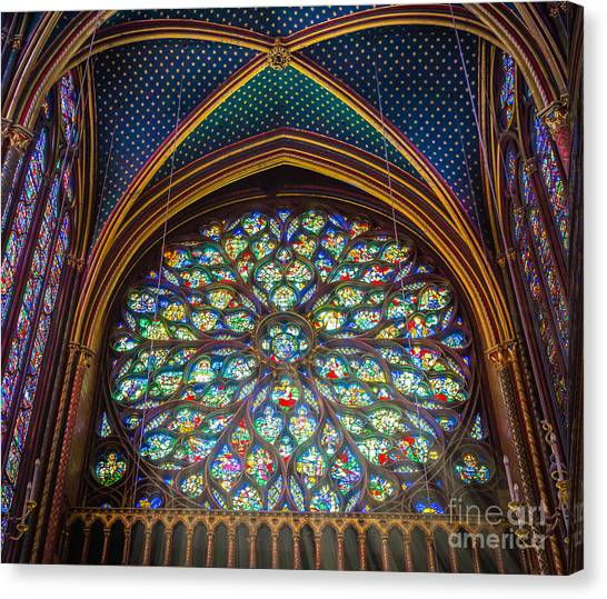 Europa Canvas Print - Sainte-chapelle Fenetre Ronde by Inge Johnsson