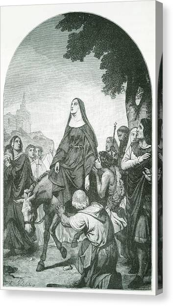 Colette Canvas Print - Sainte Colette French Nun Nicolette by Mary Evans Picture Library