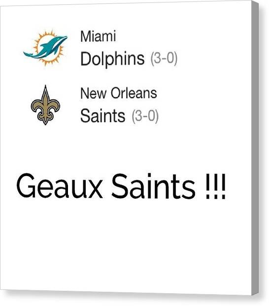 Dolphins Canvas Print - #saints #dolphins #mondaynightfootball by Lori Lynn Gager