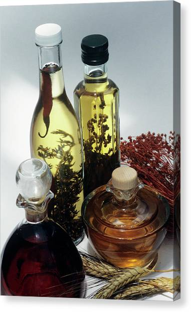 Salad Dressing Canvas Print - Salad Dressings by Sally Mccrae Kuyper/science Photo Library