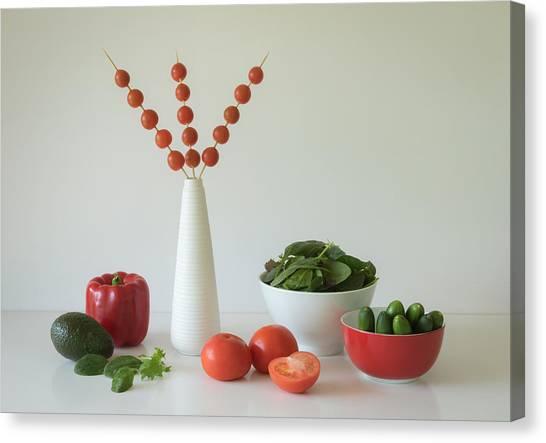 Salad Canvas Print - Salad Time by Jacqueline Hammer