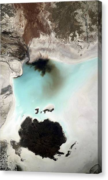Salar De Coipasa, Bolivia, Iss Image. Canvas Print by Science Photo Library