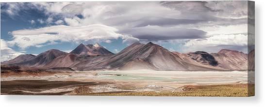 Andes Mountains Canvas Print - Salar De Talar by Adhemar Duro