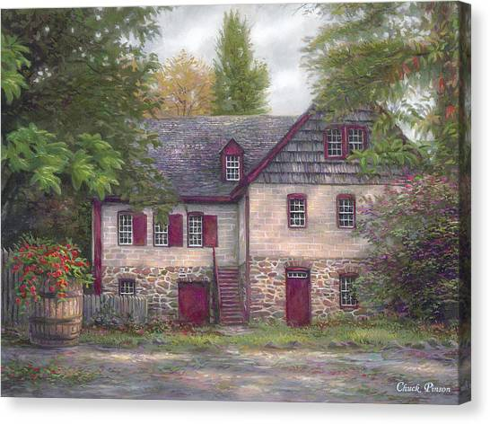 Pilgrims Canvas Print - Salem House by Chuck Pinson
