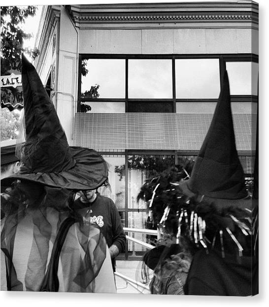 Witches Canvas Print - #salem #massachusetts #october52013 by Amber Jane Barricman