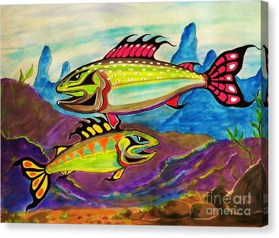 Salmon Of Colour Canvas Print