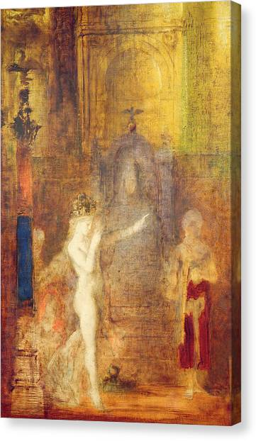 Gustave Canvas Print - Salome Dancing Before Herod by Gustave Moreau