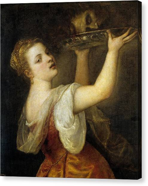 The Prado Canvas Print - Salome With The Head Of John The Baptist by Titian
