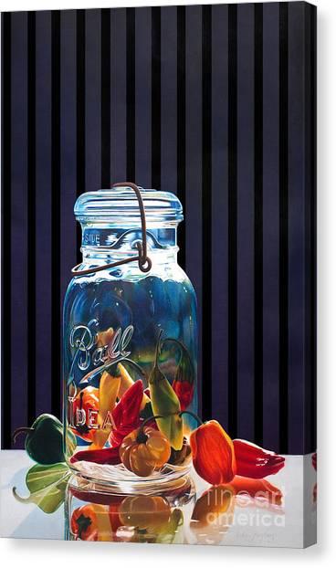 Salsa Canvas Print by Arlene Steinberg