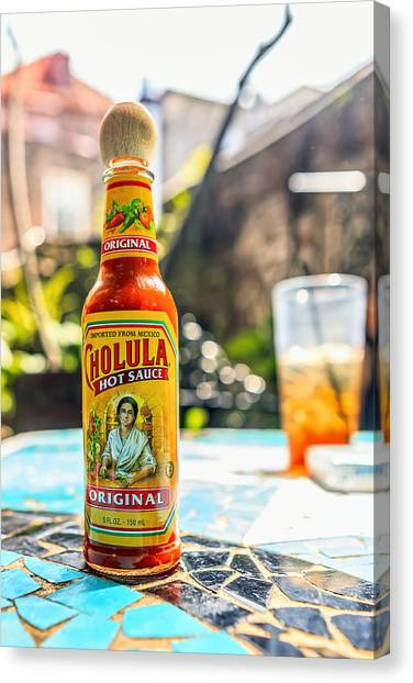 Sweet Tea Canvas Print - Salsa Caliente by Sennie Pierson