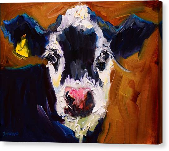 Salt And Pepper Cow 2 Canvas Print