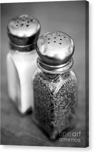 Salt Canvas Print - Salt And Pepper Shaker by Iris Richardson