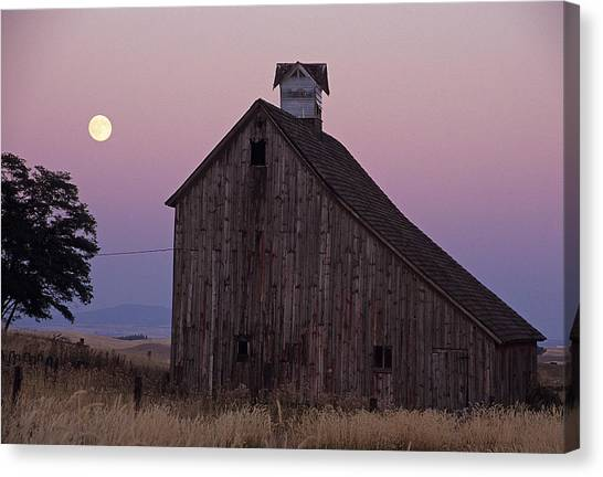 Salt Barn Mooned Canvas Print