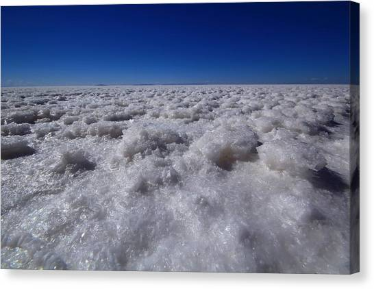 Bolivian Canvas Print - Salt Crystals by FireFlux Studios