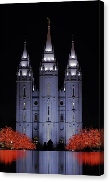 Salt Canvas Print - Salt Lake Christmas by Chad Dutson