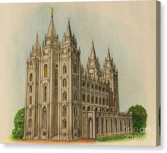 Salt Lake City Temple II Canvas Print