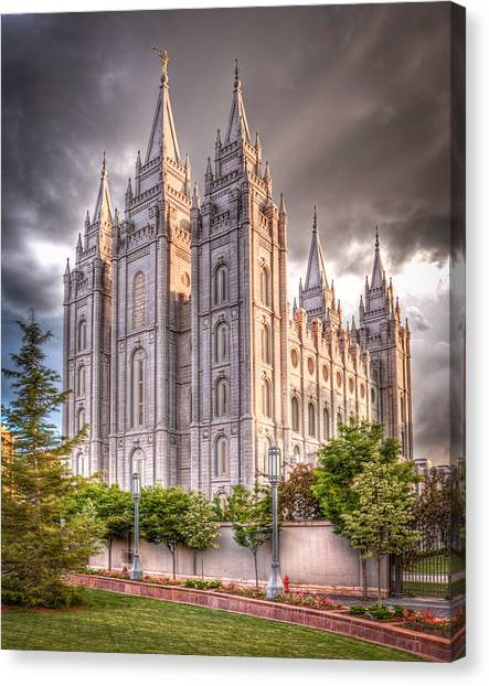 Temple Canvas Print - Salt Lake Temple by Niels Nielsen