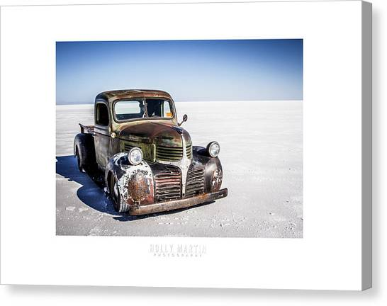 Mirages Canvas Print - Salt Metal Pick Up Truck by Holly Martin
