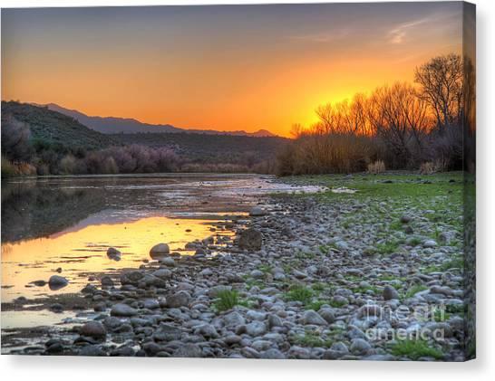 Salt River Bulldog Canyon Canvas Print
