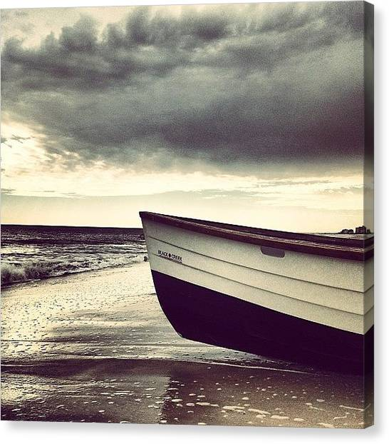 Lifeguard Canvas Print - #saltlife #beach #boat #lifeguard by Tony Sinisgalli