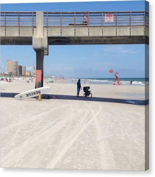 Lifeguard Canvas Print - #saltlife #beachlife #beach #oceanstyle by Tony Sinisgalli