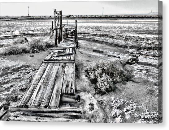 Salton Sea Dock Under Renovation By Diana Sainz Canvas Print