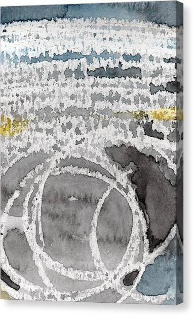 Bachelor Canvas Print - Saltwater- Abstract Painting by Linda Woods
