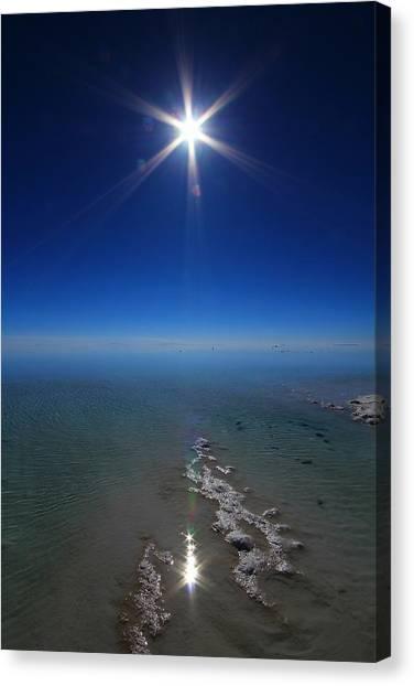 Bolivian Canvas Print - Salty Sun by FireFlux Studios