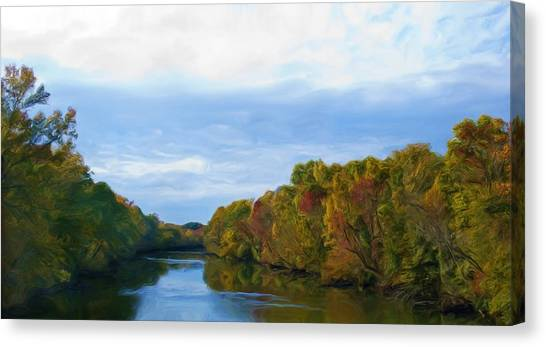 Saluda River In The Fall Canvas Print