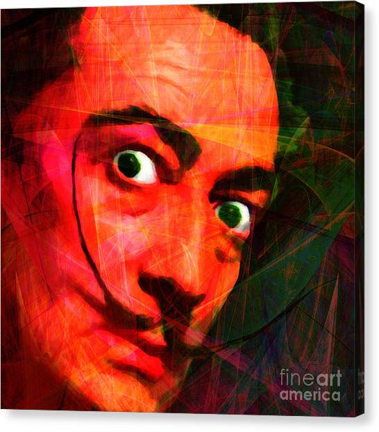 Dada Art Canvas Print - Salvador Dali 20141213 V2 Square by Wingsdomain Art and Photography
