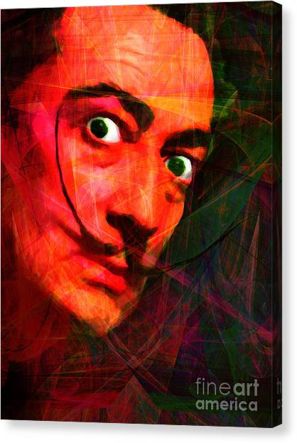 Dada Art Canvas Print - Salvador Dali 20141213 V2 by Wingsdomain Art and Photography