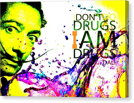 Salvador Dali Pop Art Canvas Print