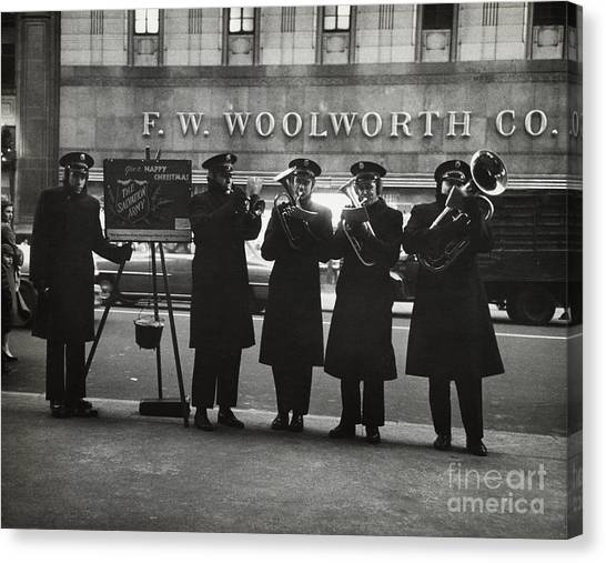 Salvation Army Canvas Print - Salvation Army by Dick Hanley