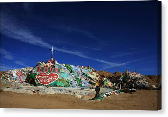 Installation Art Canvas Print - Salvation Mountain by Laurie Search