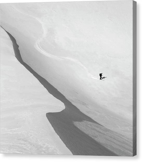 Skiing Canvas Print - Salvation by Peter Svoboda, Mqep