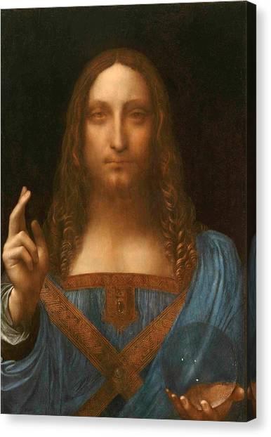 Old Masters Canvas Print - Salvator Mundi by Leonardo da Vinci