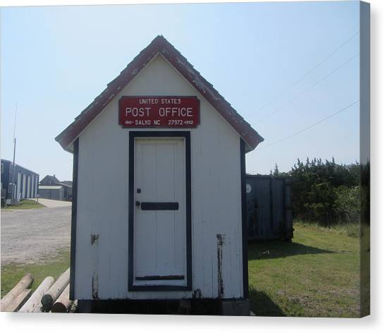 Salvo Post Office Canvas Print by Cathy Lindsey
