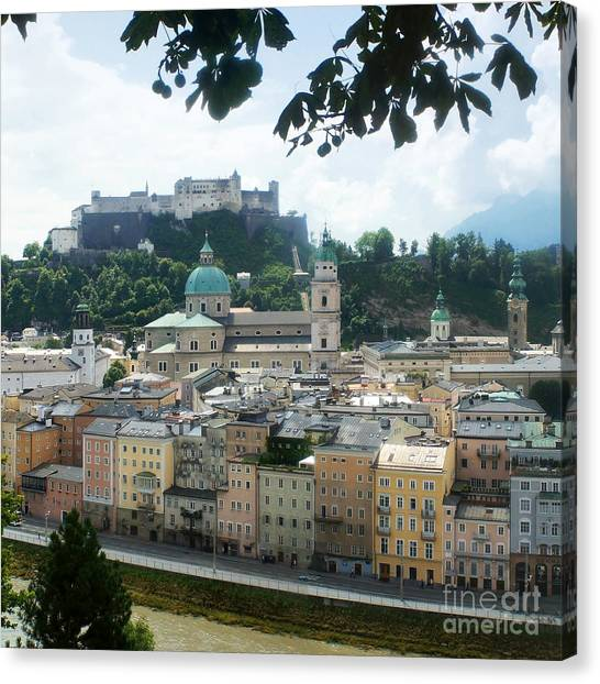 Salzburg Austria Old Town 3 Canvas Print
