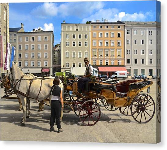 Salzburg Cabbie Canvas Print